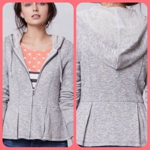 Anthropologie Saturday Sunday Peplum Hoodie; Cute